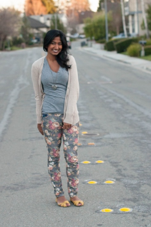 Floral Pants + Yellow = Twice the Fun-4