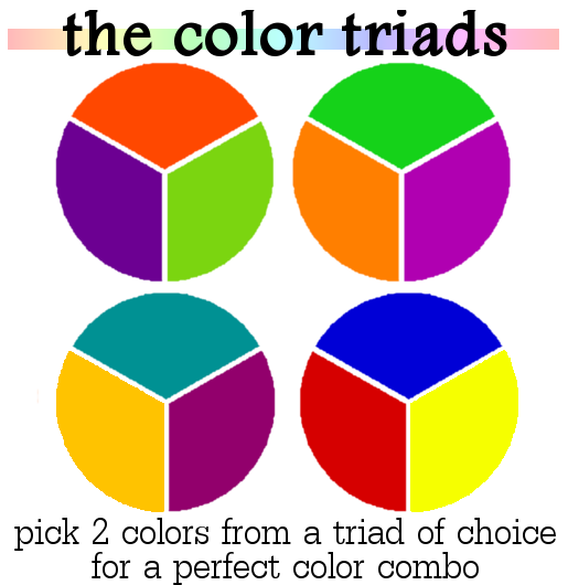 How To Combine Colors Color Triads
