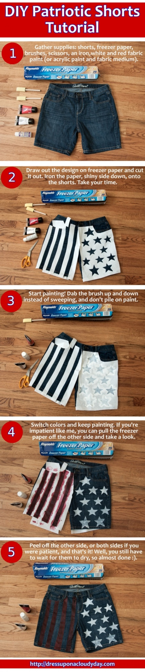 DIY Patriotic Shorts Tutorial