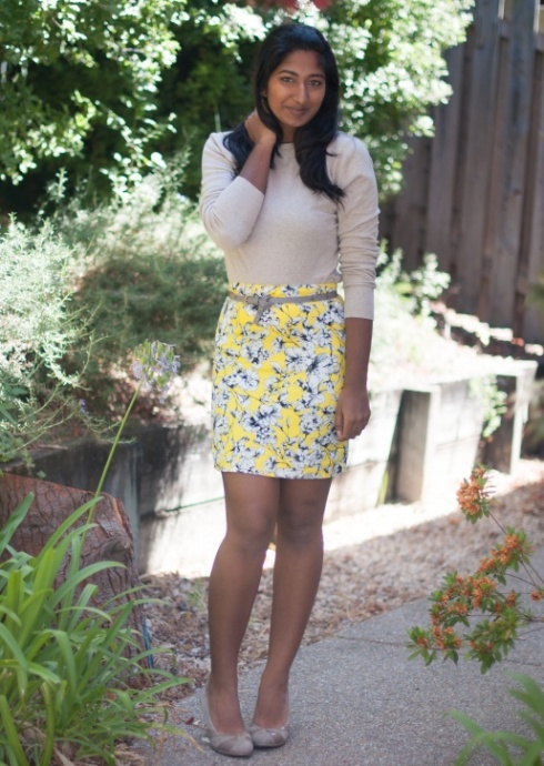 Yellow Skirt and Cardigan-1