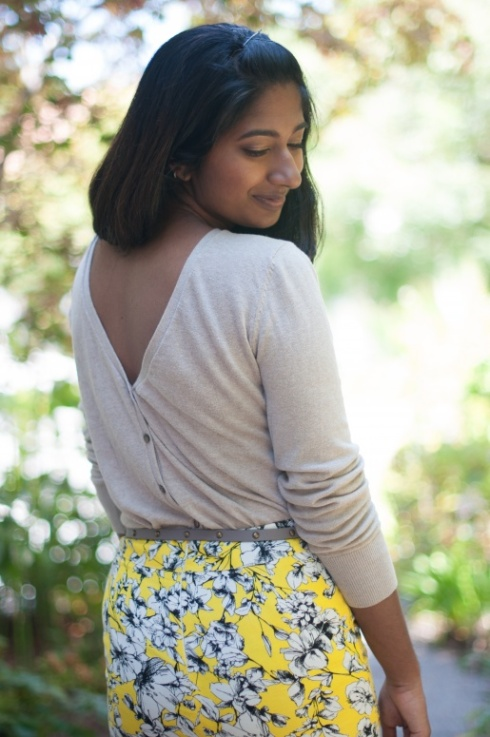 Yellow Skirt and Cardigan-10