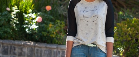 Eric and Lani Cat Print Tee
